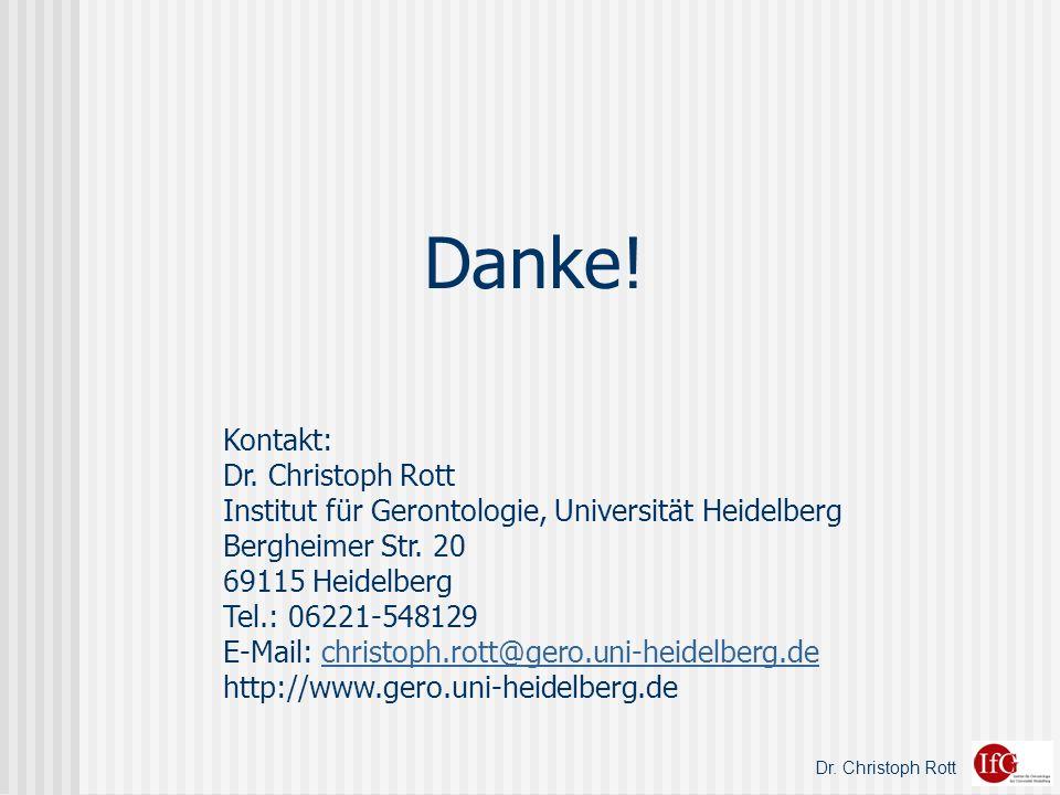 Danke! Kontakt: Dr. Christoph Rott