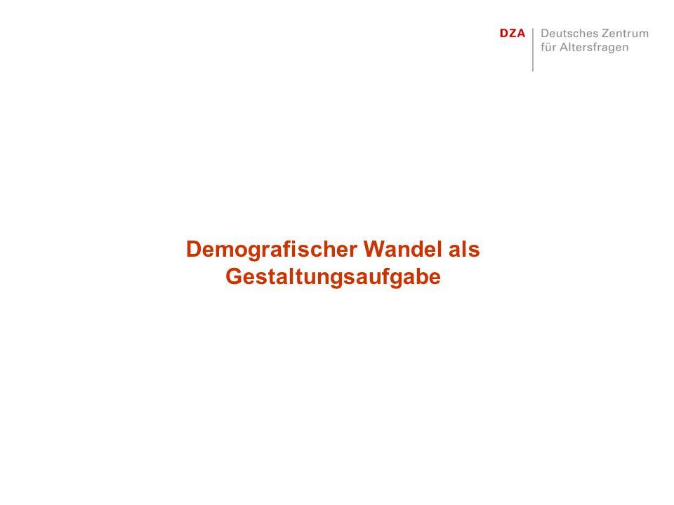 Demografischer Wandel als Gestaltungsaufgabe