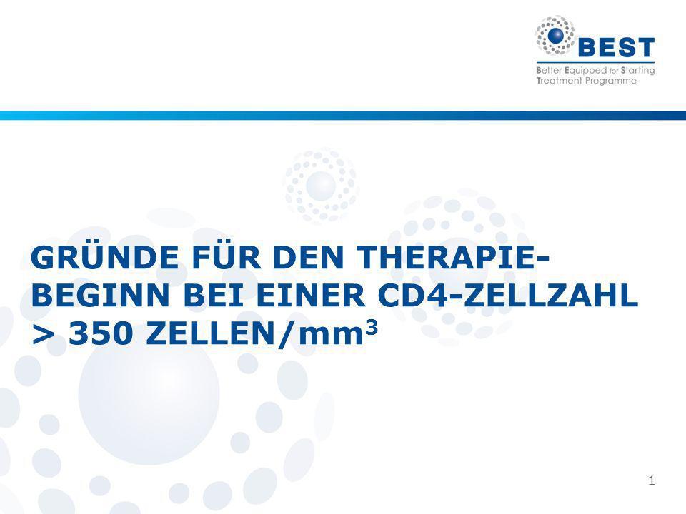 GRÜNDE FÜR DEN THERAPIE-BEGINN BEI EINER CD4-ZELLZAHL