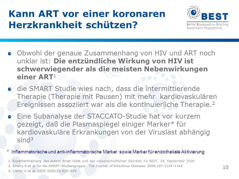 Kann ART vor einer koronaren Herzkrankheit schützen