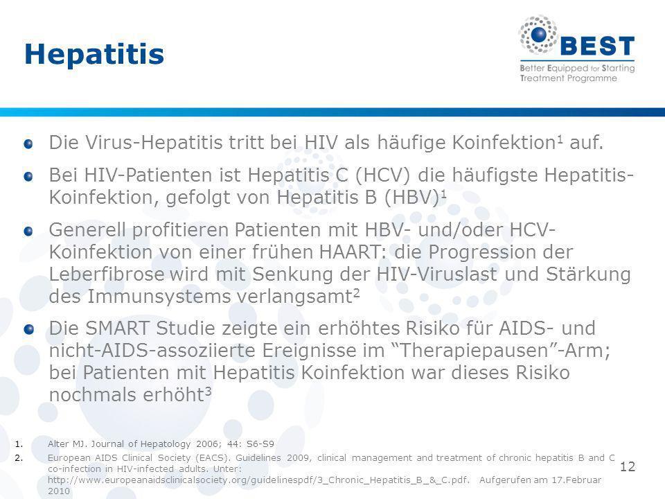 Hepatitis Die Virus-Hepatitis tritt bei HIV als häufige Koinfektion1 auf.