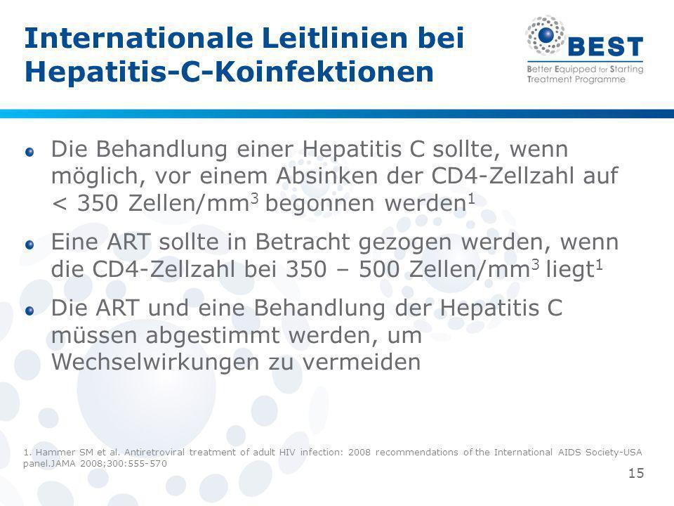 Internationale Leitlinien bei Hepatitis-C-Koinfektionen