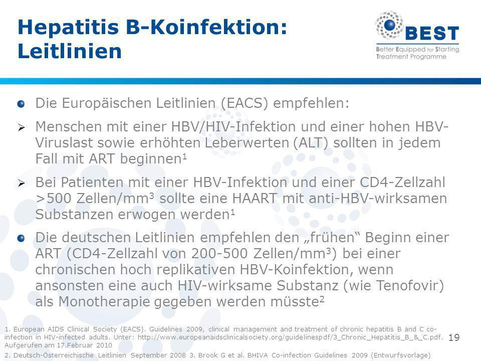 Hepatitis B-Koinfektion: Leitlinien