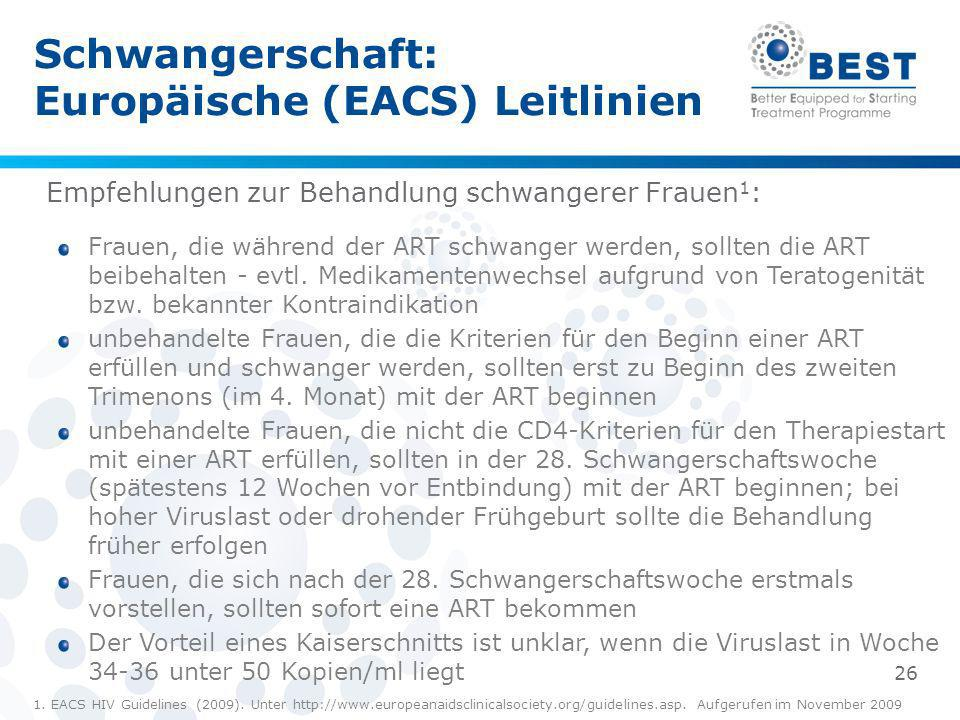 Schwangerschaft: Europäische (EACS) Leitlinien
