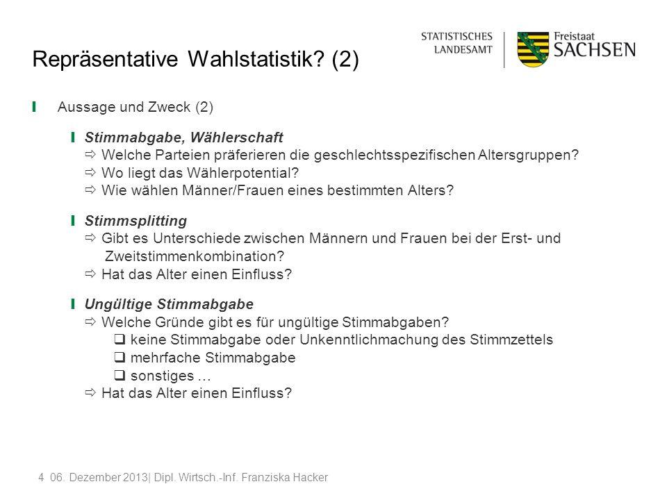 Repräsentative Wahlstatistik (2)