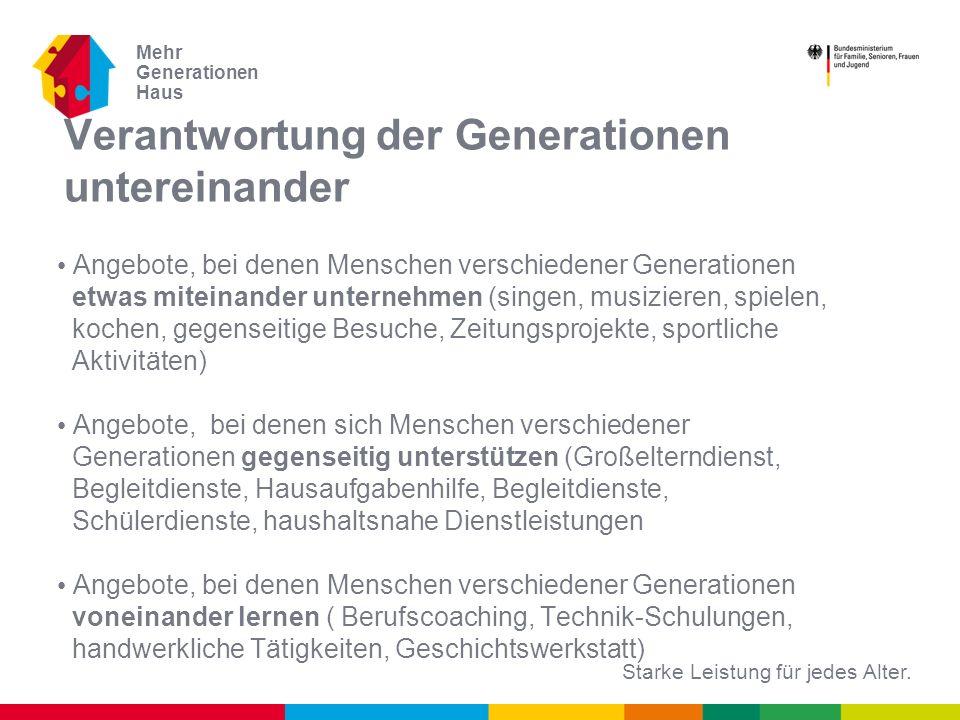 Verantwortung der Generationen untereinander