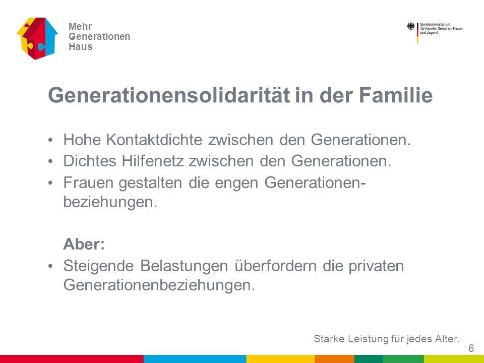 Generationensolidarität in der Familie