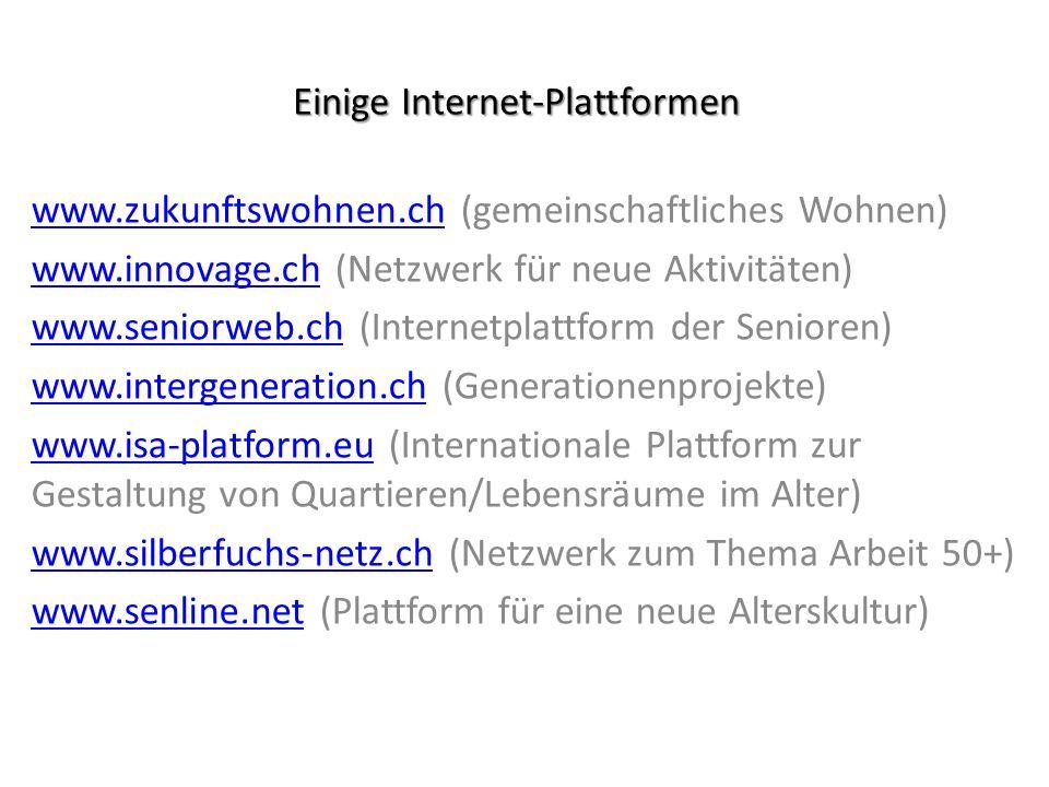 Einige Internet-Plattformen