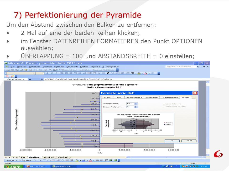 7) Perfektionierung der Pyramide