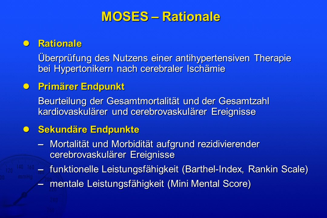 MOSES – Rationale Rationale