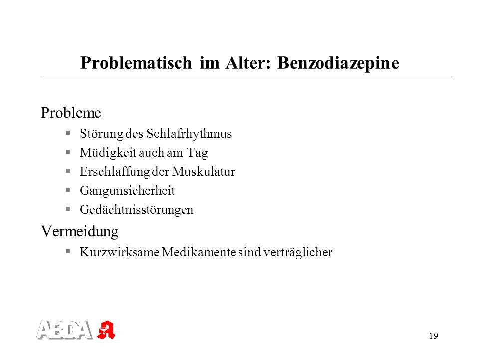 Problematisch im Alter: Benzodiazepine