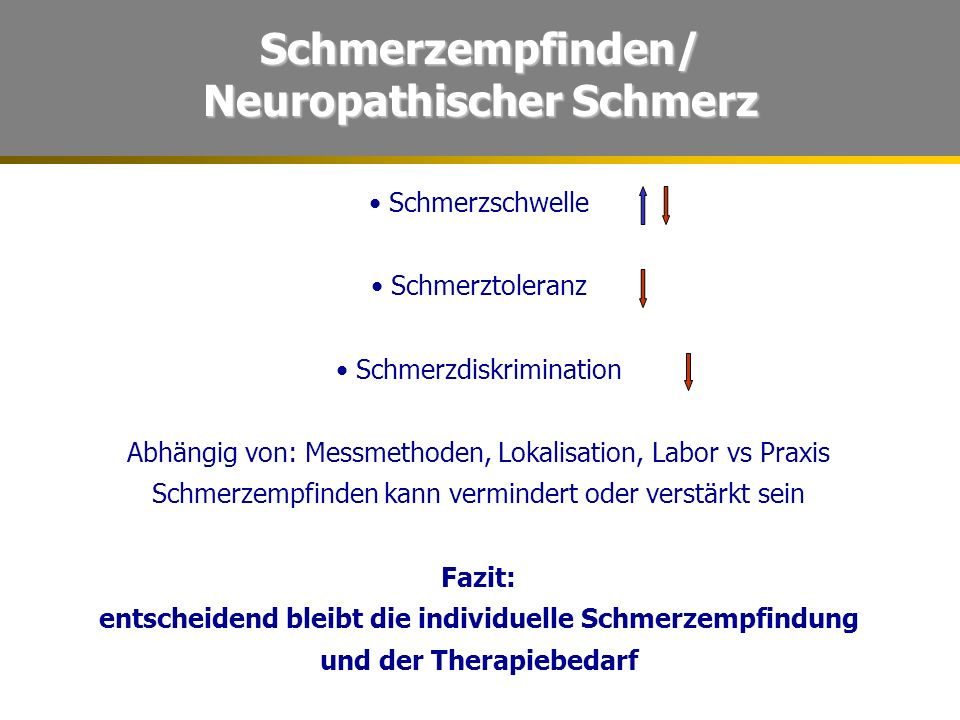 Schmerzempfinden/ Neuropathischer Schmerz