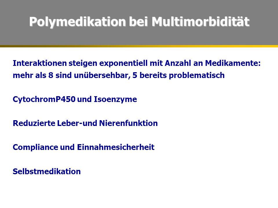 Polymedikation bei Multimorbidität