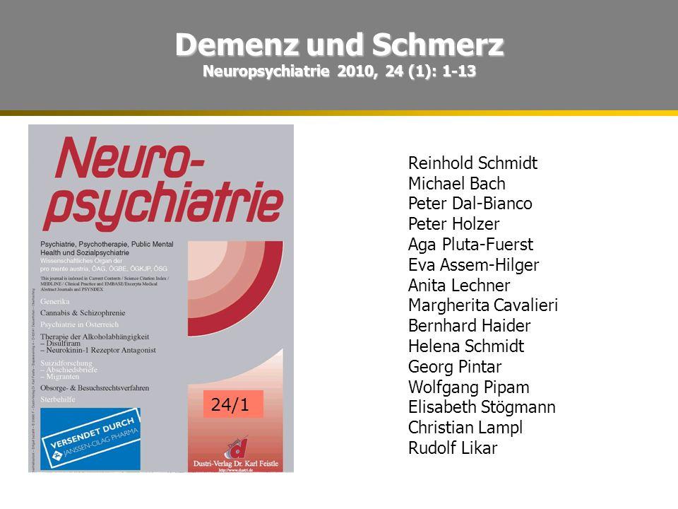 Neuropsychiatrie 2010, 24 (1): 1-13