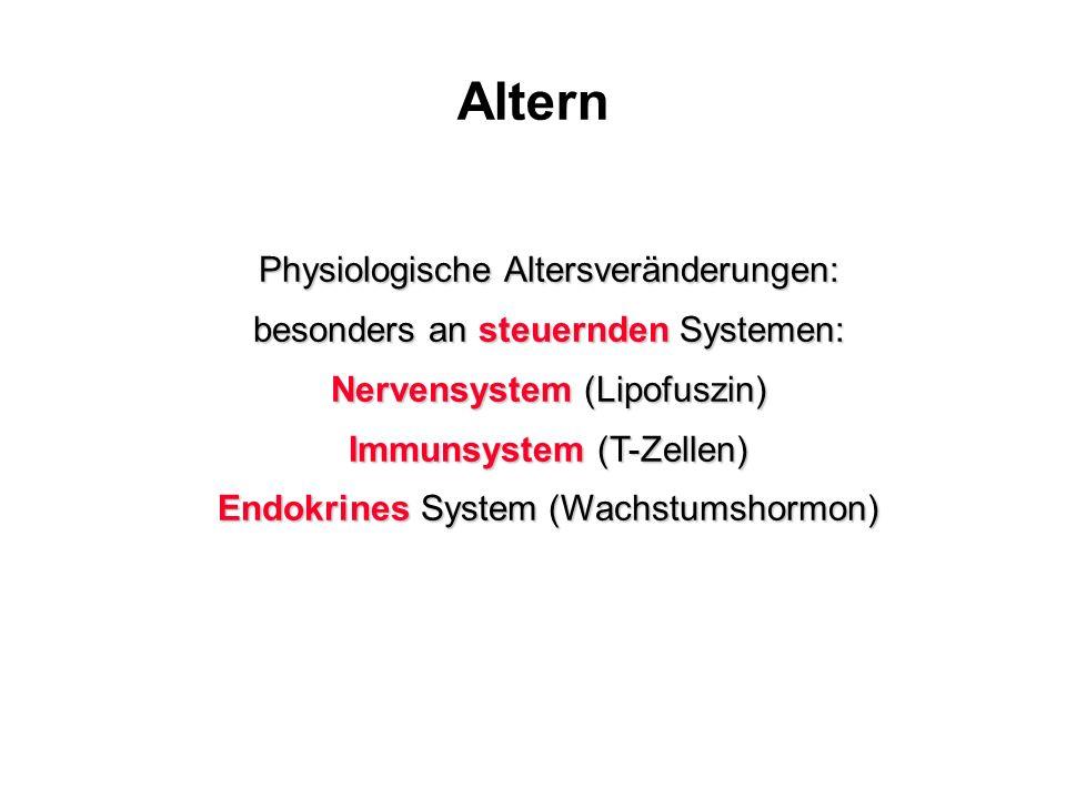 Altern Physiologische Altersveränderungen: