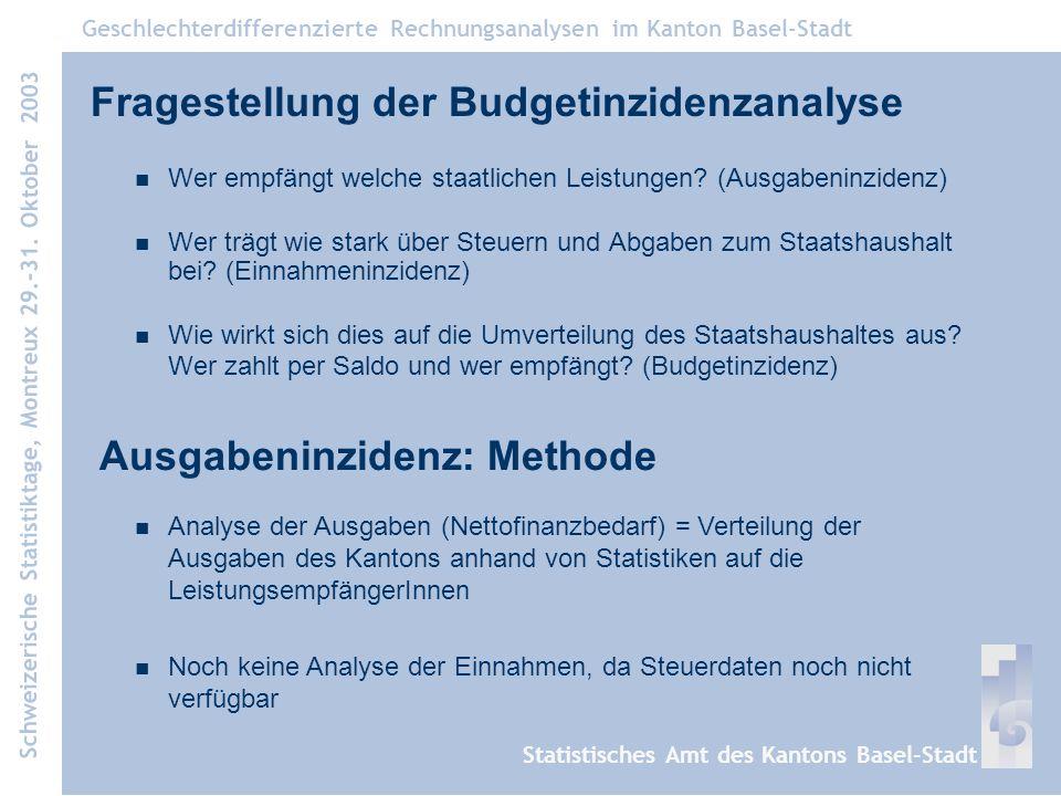Fragestellung der Budgetinzidenzanalyse