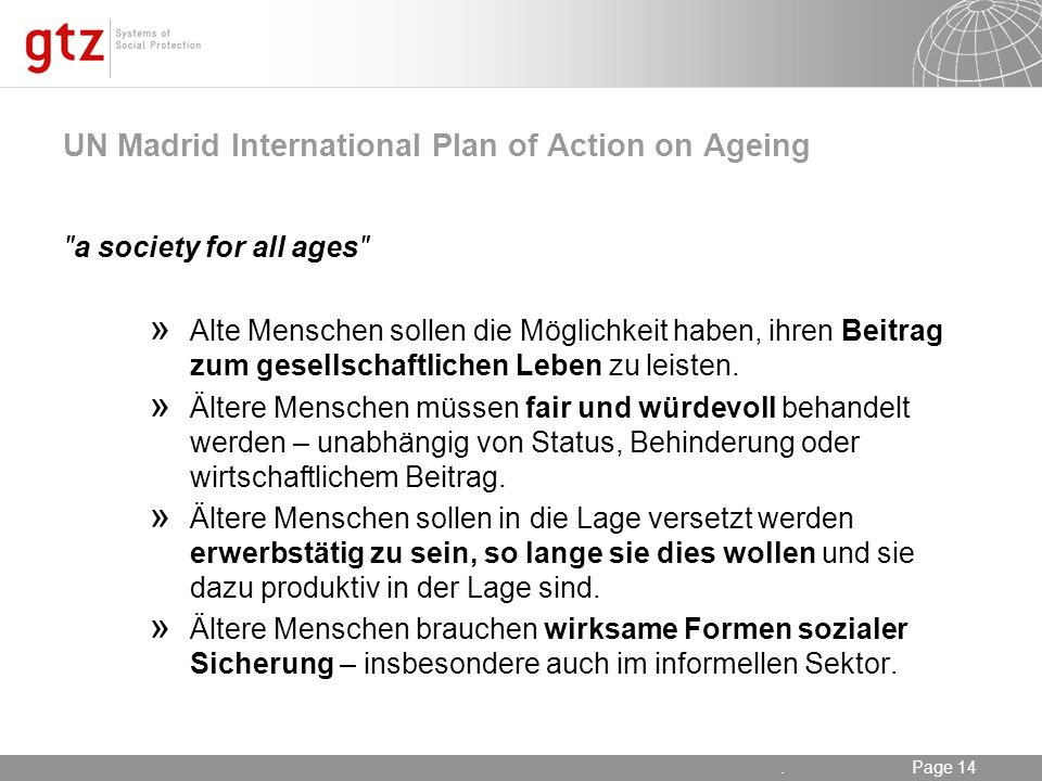 UN Madrid International Plan of Action on Ageing
