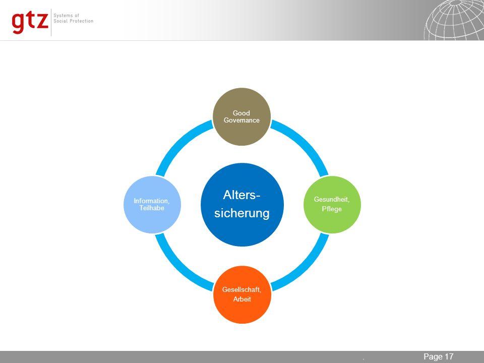 . sicherung Alters- Good Governance Gesundheit, Pflege Gesellschaft,
