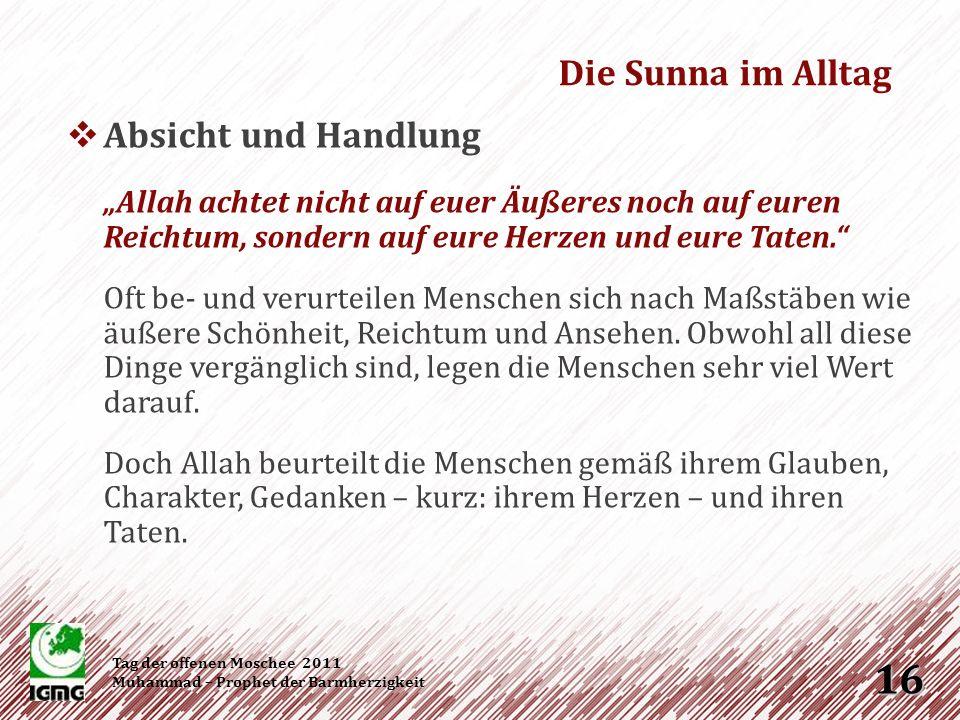 Die Sunna im Alltag Absicht und Handlung