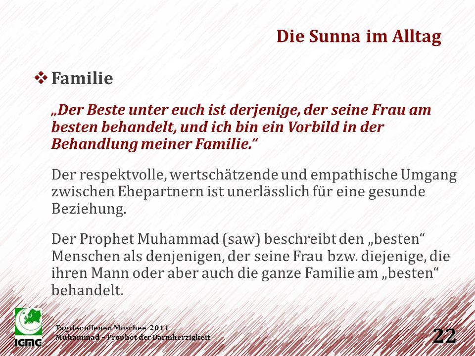 Die Sunna im Alltag Familie