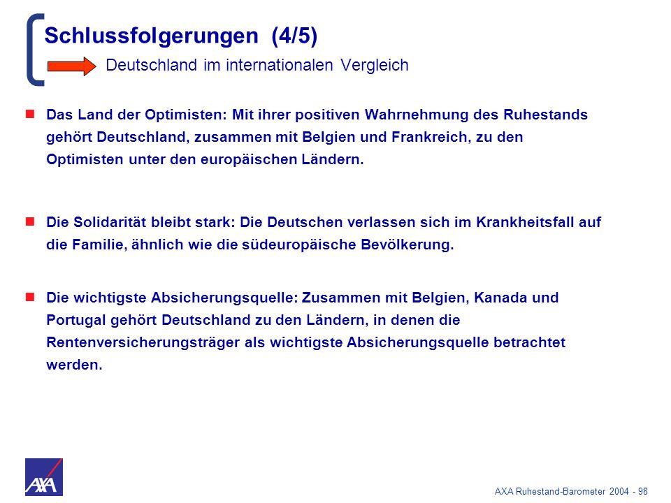 Schlussfolgerungen (4/5) Deutschland im internationalen Vergleich