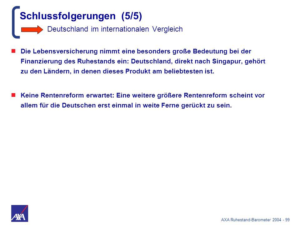 Schlussfolgerungen (5/5) Deutschland im internationalen Vergleich