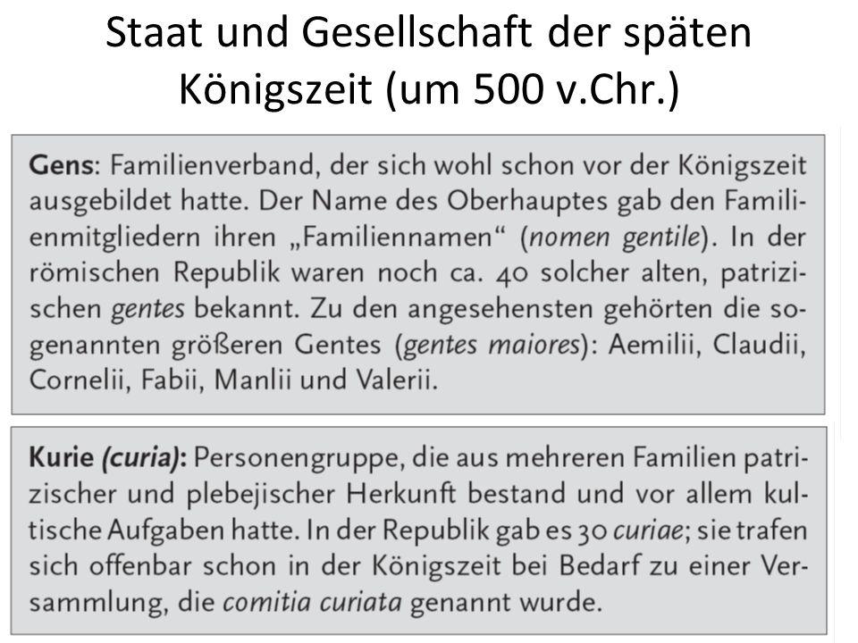 Staat und Gesellschaft der späten Königszeit (um 500 v.Chr.)