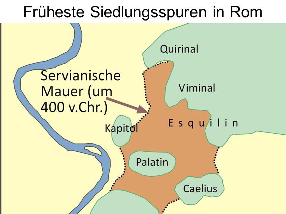 Früheste Siedlungsspuren in Rom