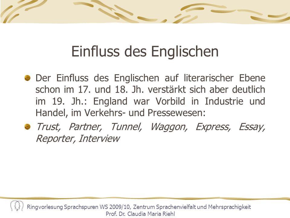 Einfluss des Englischen