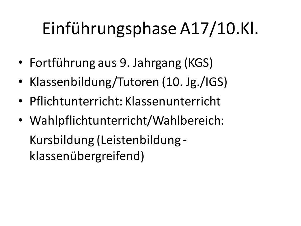 Einführungsphase A17/10.Kl.