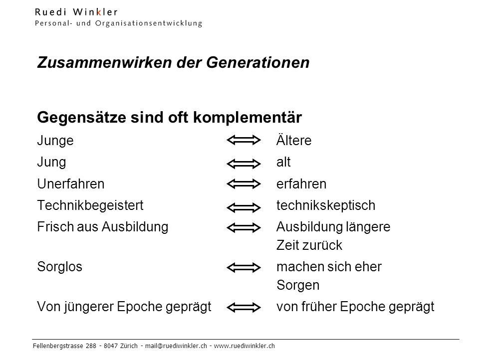 Zusammenwirken der Generationen