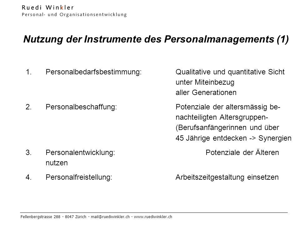 Nutzung der Instrumente des Personalmanagements (1)