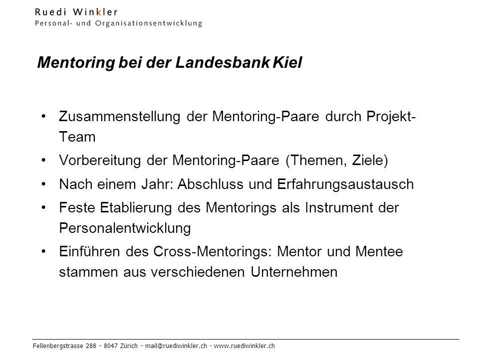 Mentoring bei der Landesbank Kiel
