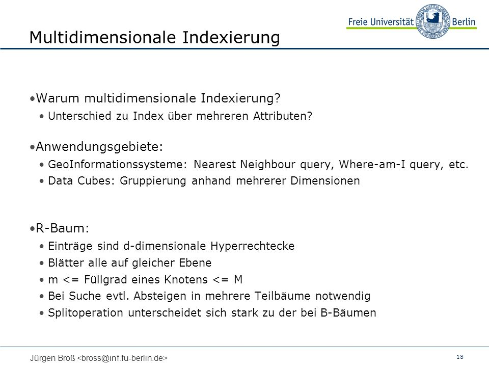 Multidimensionale Indexierung