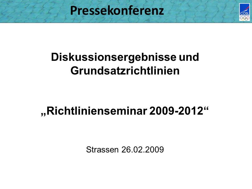 Pressekonferenz Diskussionsergebnisse und Grundsatzrichtlinien