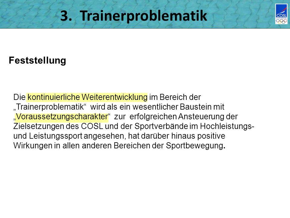 3. Trainerproblematik Feststellung