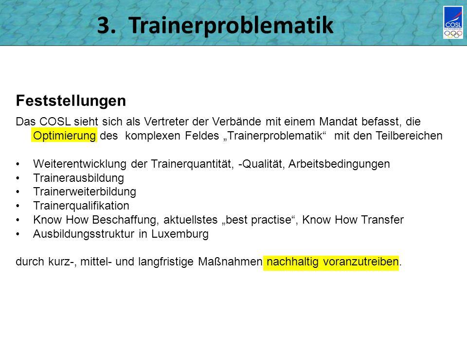 3. Trainerproblematik Feststellungen