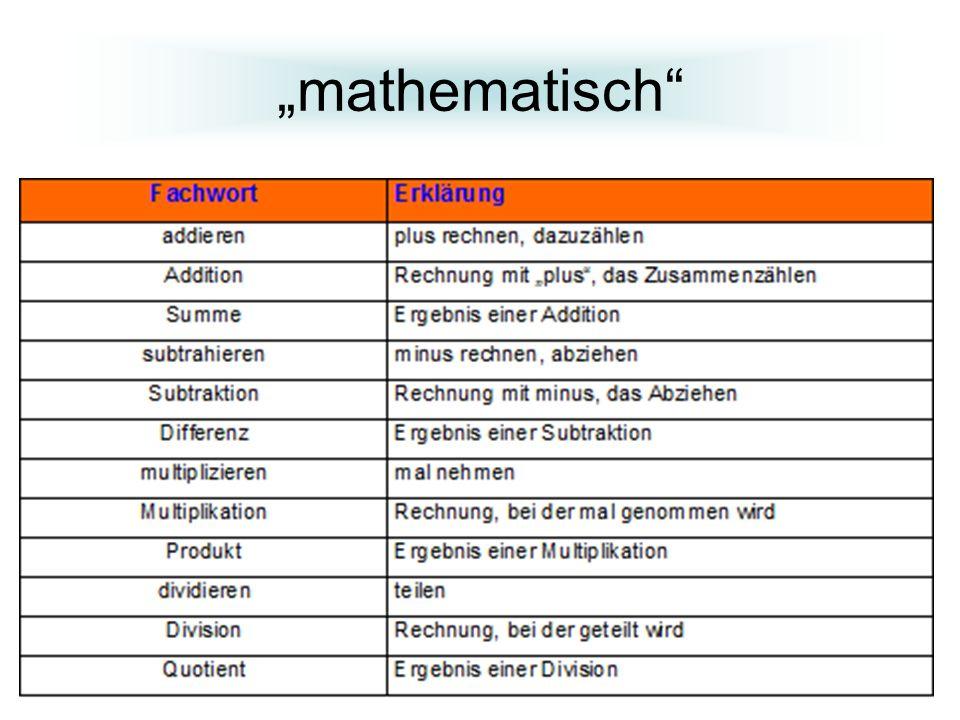 """""""mathematisch"""
