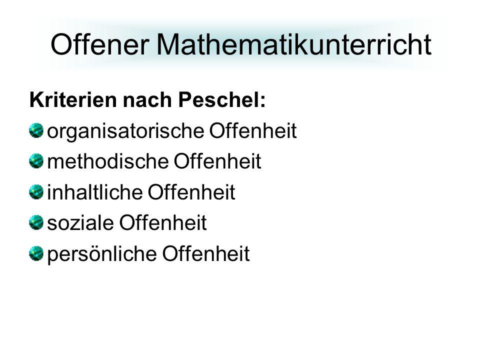 Offener Mathematikunterricht