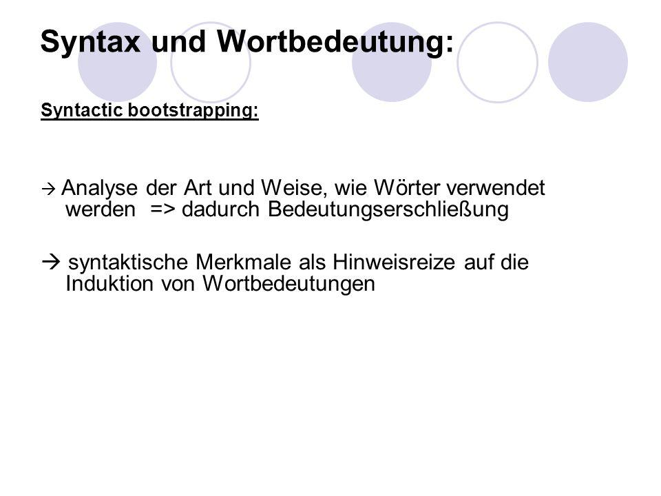 Syntax und Wortbedeutung: