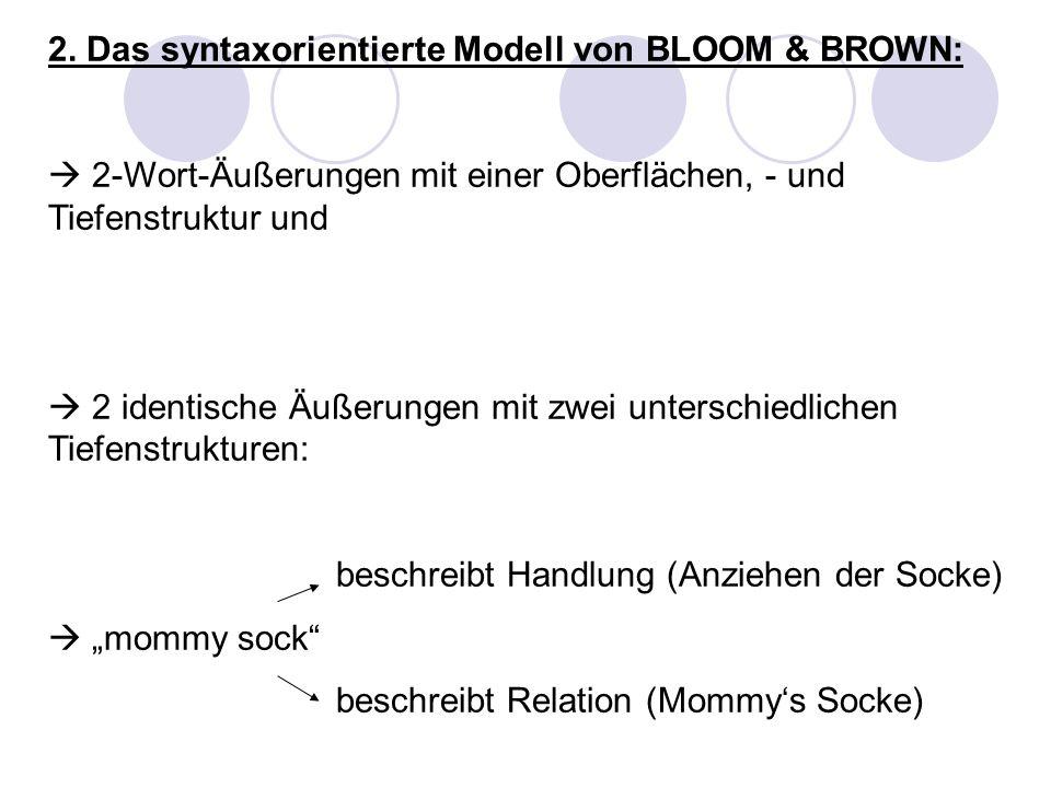 2. Das syntaxorientierte Modell von BLOOM & BROWN: