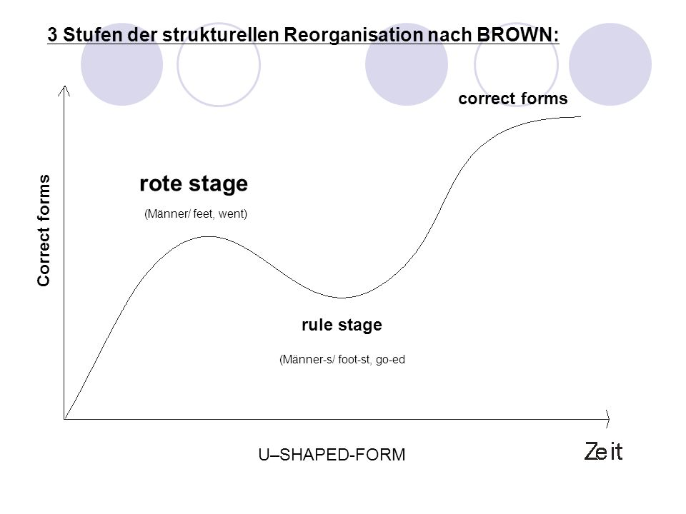 rote stage 3 Stufen der strukturellen Reorganisation nach BROWN: