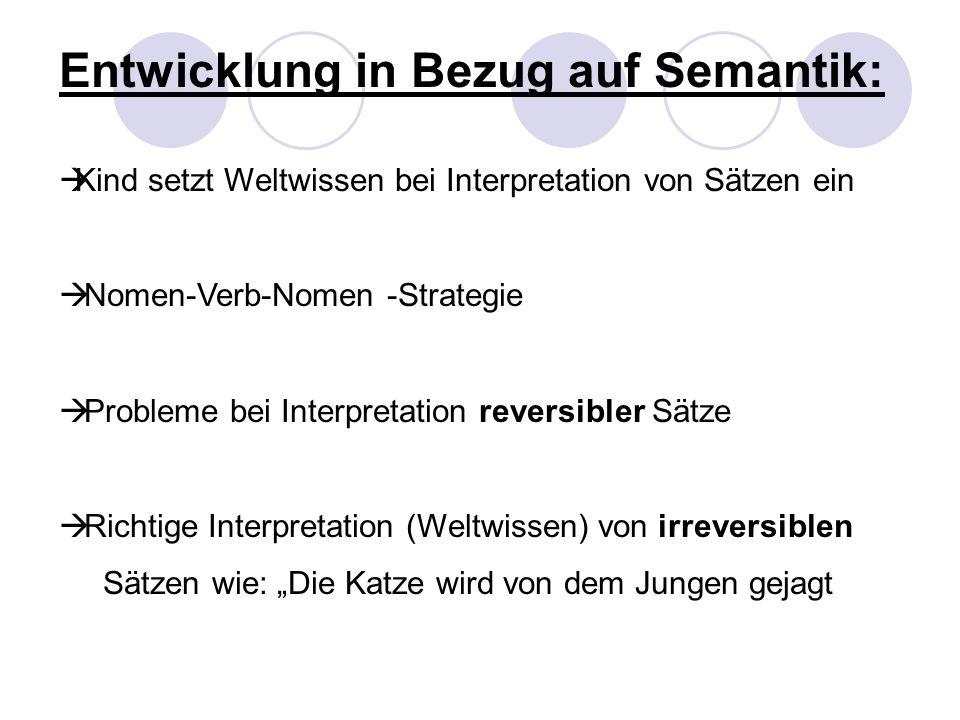Entwicklung in Bezug auf Semantik: