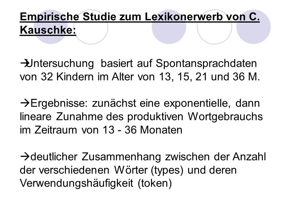 Empirische Studie zum Lexikonerwerb von C. Kauschke: