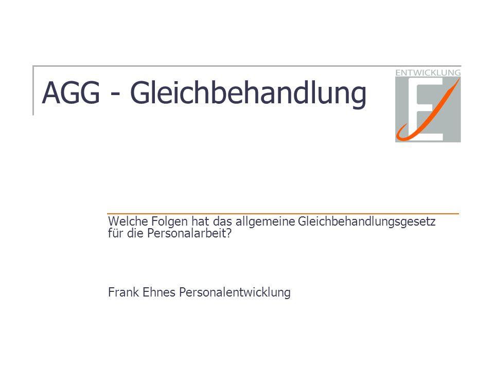 AGG - Gleichbehandlung