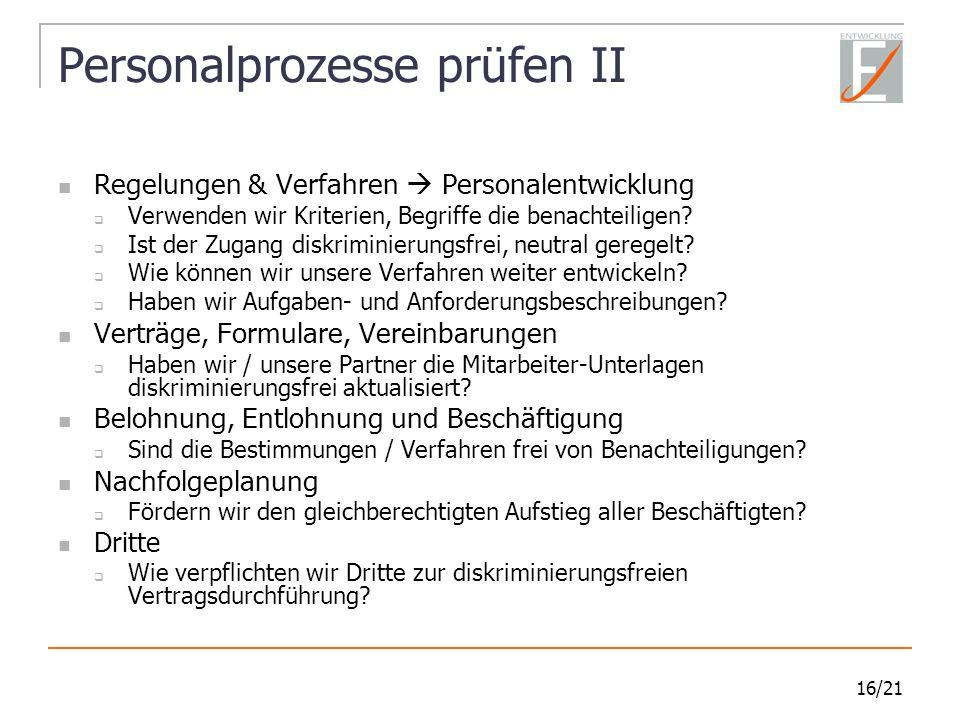 Personalprozesse prüfen II