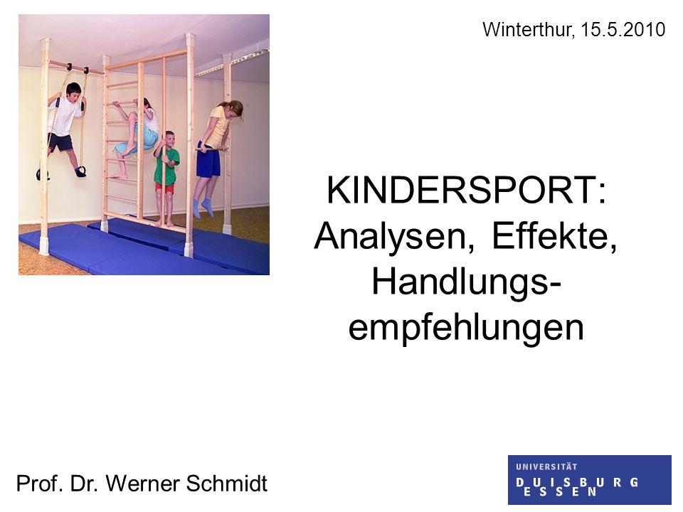 KINDERSPORT: Analysen, Effekte, Handlungs- empfehlungen