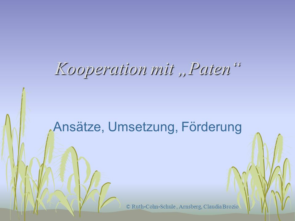 "Kooperation mit ""Paten"