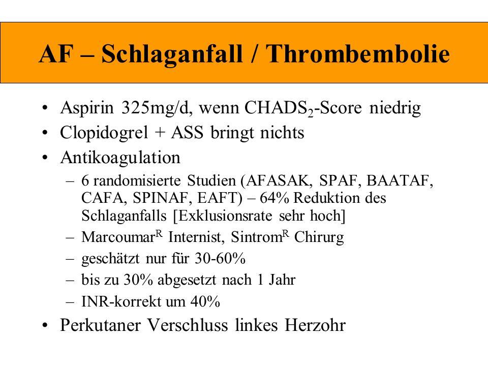 AF – Schlaganfall / Thrombembolie