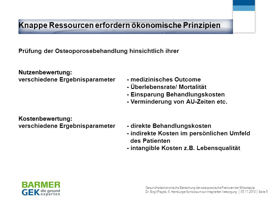Ineffizienzente Osteoporosebehandlung